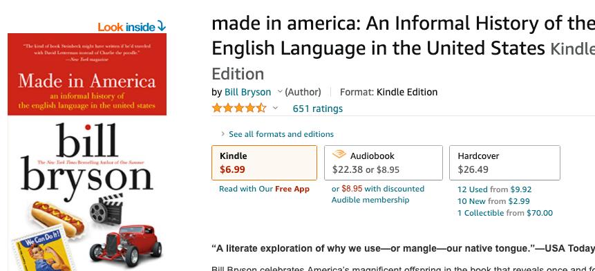 Bill Bryson's Made in America